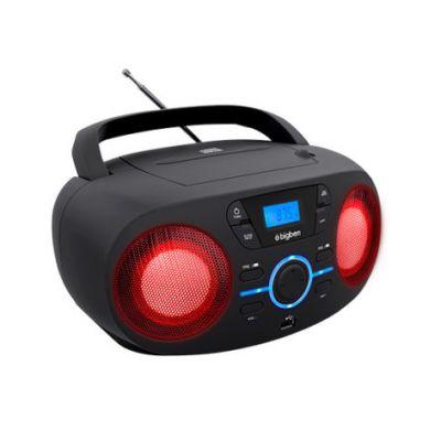 BIGBEN Φορητό ηχοσύστημα CD61NUSB, FM/CD/USB, LED, μαύρο - BIGBEN 18492