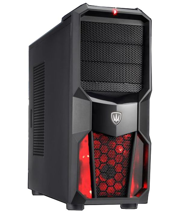 POWERTECH Gaming Case, LED fan 120mm red, χωρίς PSU - POWERTECH 1828