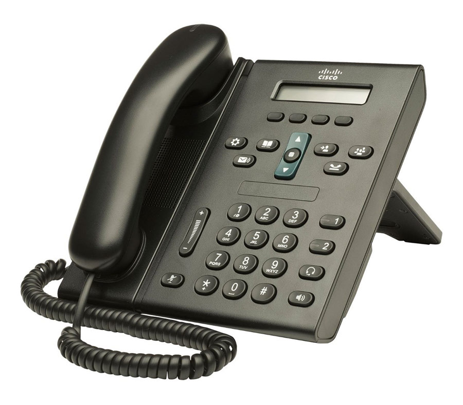 CISCO used Unified IP Phone CP-6921-C-K9, Black - CISCO 13480