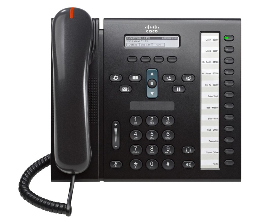 CISCO used Unified IP Phone 6961, POE, Dark Gray - CISCO 21726