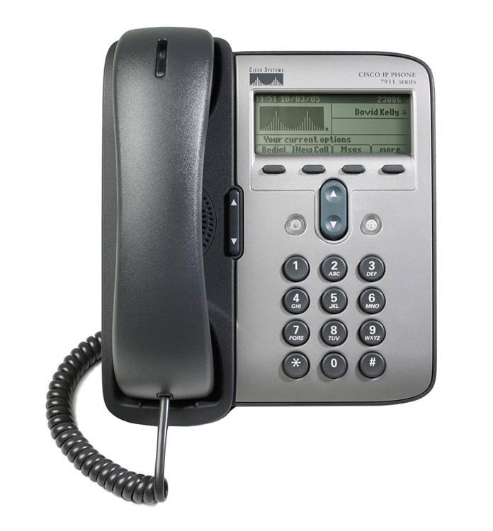 CISCO used IP Phone 7911G, POE, Dark Gray - CISCO 17323