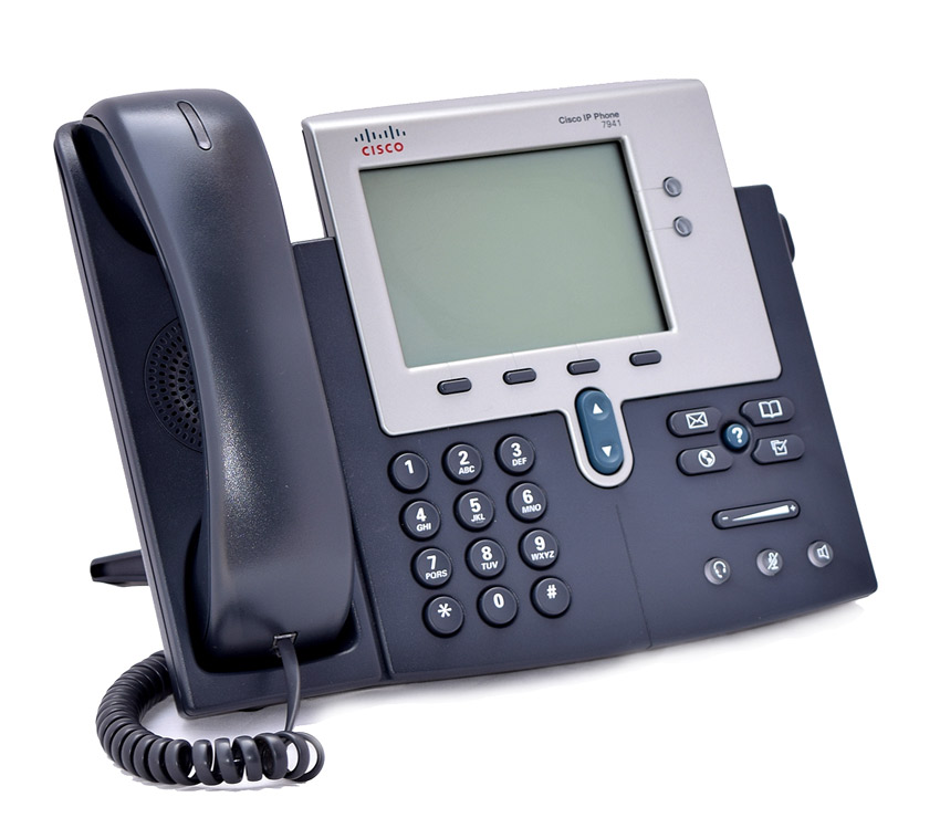CISCO used Unified IP Phone 7941G, PoE, Dark Gray - CISCO 17038