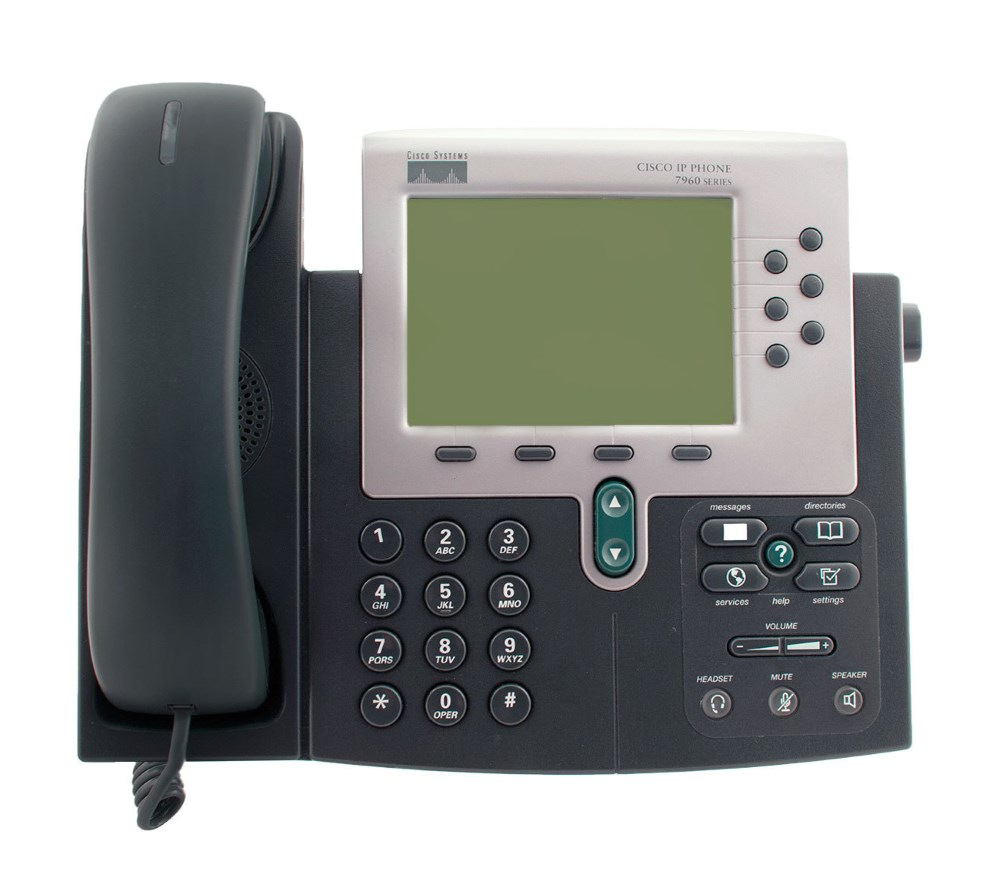 CISCO Used IP Phone 7960G, Dark Gray - CISCO 22094