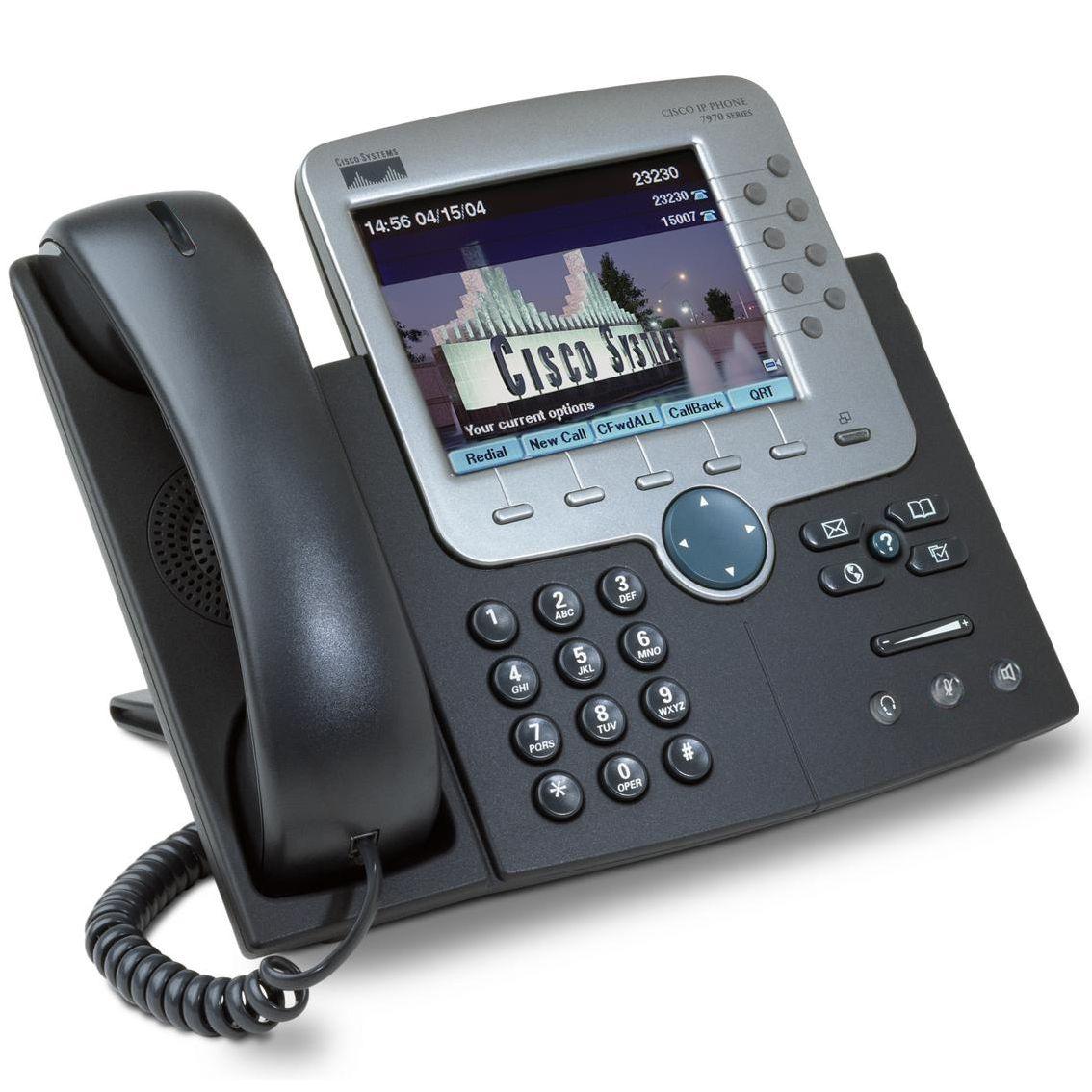 Cisco USED IP Phone 7970G, Dark Gray - CISCO 10076