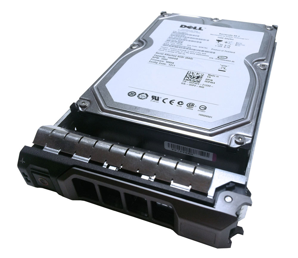 "DELL used SAS HDD CP464, 1ΤB 3G 7.2K, 3.5"" με Tray - DELL 11988"