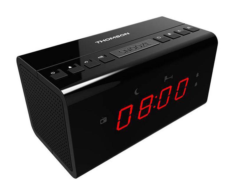 THOMSON Ξυπνητήρι CR50 με ραδιόφωνο, μαύρο - THOMSON 18517