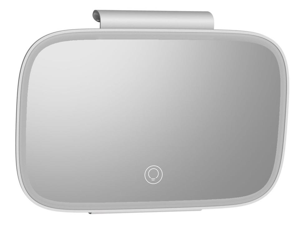 BASEUS καθρέφτης καλλωπισμού αυτοκινήτου CRBZJ01-04, LED 500mAh, λευκό - BASEUS 28121