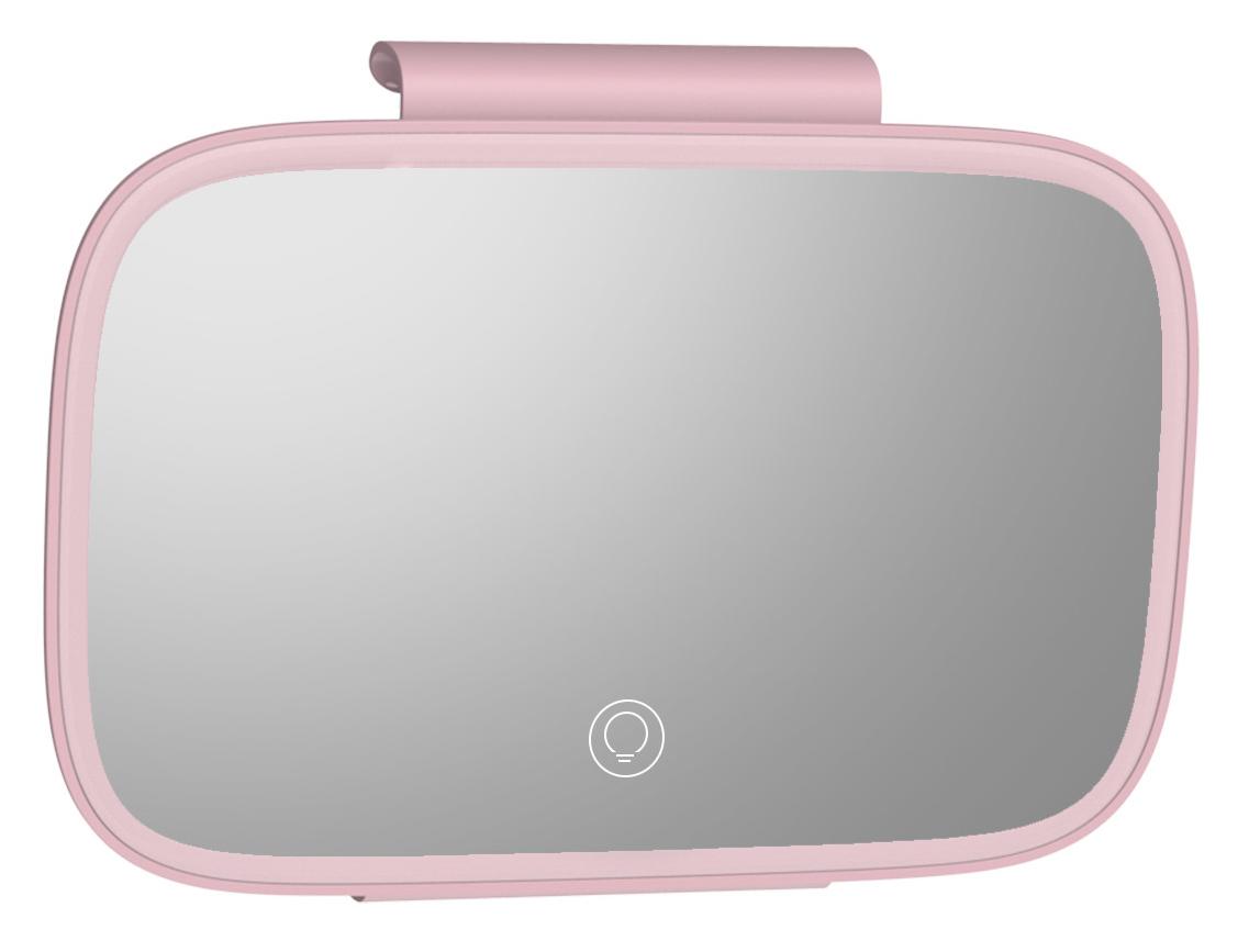 BASEUS καθρέφτης καλλωπισμού αυτοκινήτου CRBZJ01-04, LED 500mAh, ροζ - BASEUS 28122