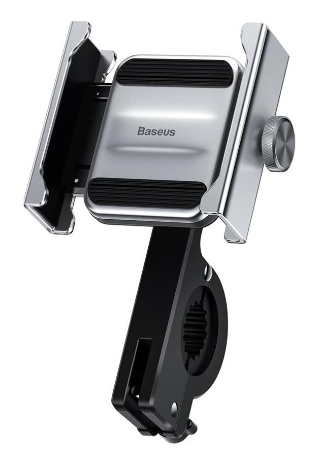 BASEUS βάση μηχανής για smartphone CRJBZ-0S Knight, μεταλλική, ασημί - BASEUS 27135