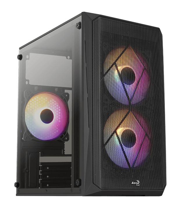 AEROCOOL PC mini tower CS-107-A, 197.5x353x340.6mm, 3x FRGB fan, μαύρο - AEROCOOL 43085