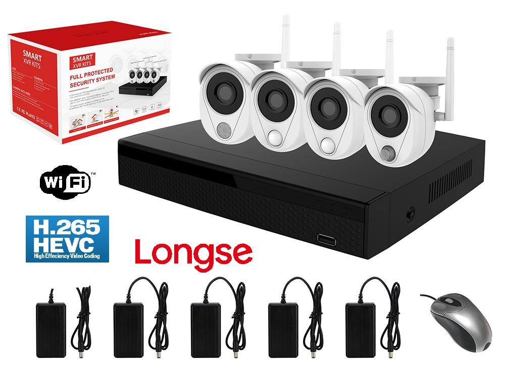 LONGSE WiFi Smart Kit CS200W, 2MP, 4 Cameras με 3 Sensors, TVI - LONGSE 22847
