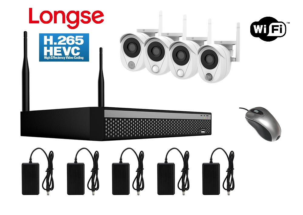 LONGSE WiFi Smart Kit CS200W, 2MP, 4 Cameras με 3 Sensors, TVI - LONGSE 22847