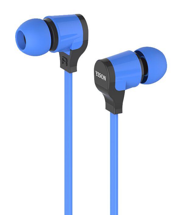 YISON ακουστικά HANDSFREE + VOLUME CONTROL (ON/OFF) - BLUE - YISON 4994