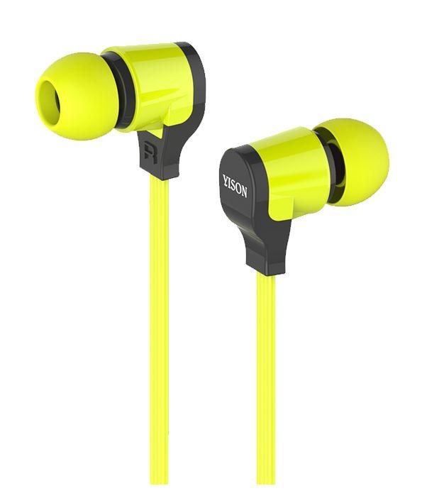 YISON ακουστικά HANDSFREE + VOLUME CONTROL (ON/OFF) - GREEN - YISON 4992