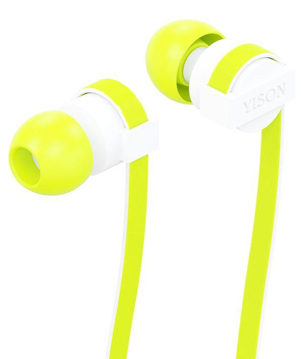YISON ακουστικά HANDSFREE + RΕΜΟΤΕ (ON/OFF) - GREEN - YISON 4982