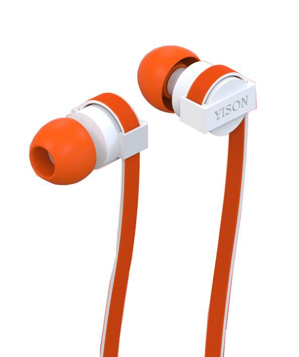 YISON ακουστικά HANDSFREE + RΕΜΟΤΕ (ON/OFF) - ORANGE - YISON 4985
