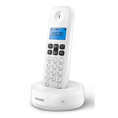 PHILIPS ασύρματο τηλέφωνο D1611W/34, με ελληνικό μενού, λευκό - PHILIPS 33759