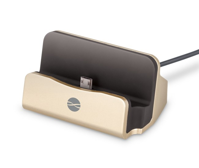 FOREVER Docking Station DS-01, Micro USB, 2A, 100cm, Gold - FOREVER 17588