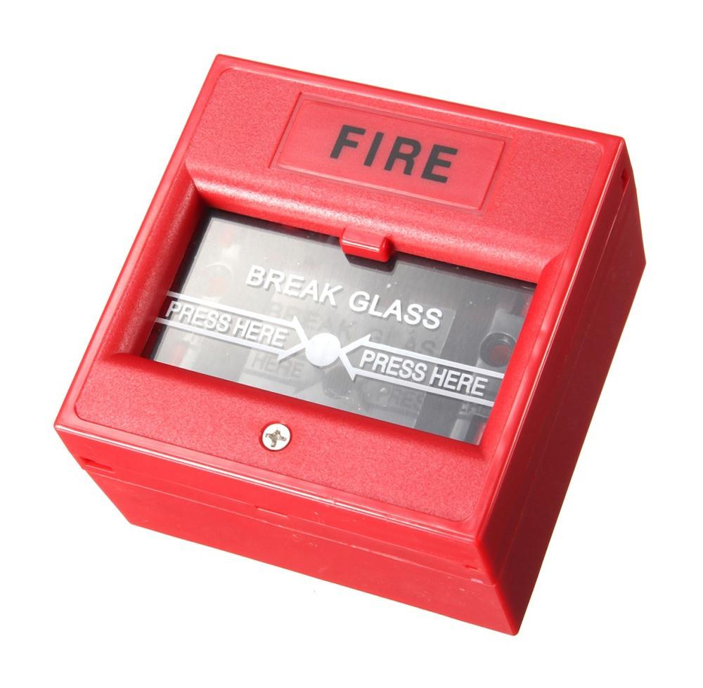 Μπουτόν αναγγελίας πυρκαγιάς DS-911R με κλειδί επαναφοράς, κόκκινο - UNBRANDED 24868