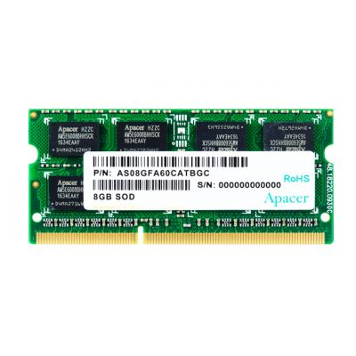 APACER Μνήμη DDR3 SODimm DS.08G2J.K9M, 8GB, 1333MHz, PC3-10600, CL9 - APACER 23698
