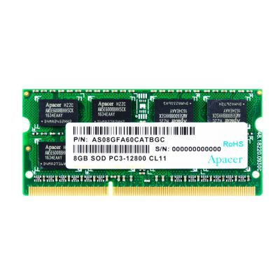 APACER Μνήμη DDR3 SODimm DS.08G2K.KAM, 8GB, 1600MHz, PC3-12800, CL11 - APACER 23699