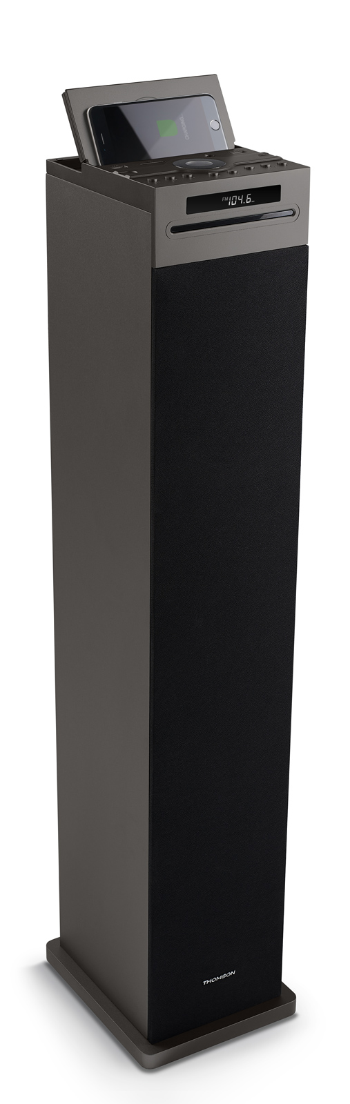 THOMSON Sound Tower DS125iCD 60W LED, bluetooth, wireless charger, μαύρο - THOMSON 22152