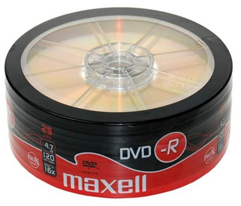 MAXELL DVD-R 16x 120min 4,7Gb 25 Spindle - MAXELL 1184