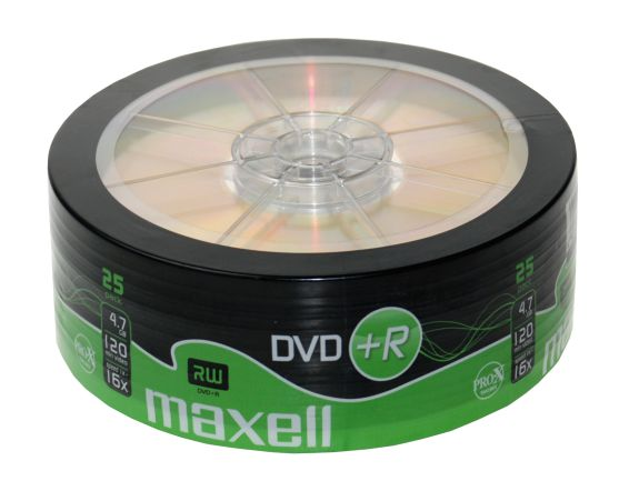 MAXELL DVD+R 16x 120min 4,7Gb 25 Spindle - MAXELL 1185