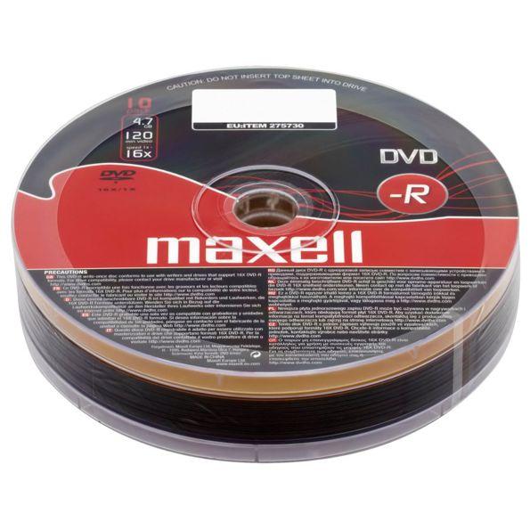 MAXELL DVD-R 4,7Gb 10 Cake box 16x - MAXELL 1204