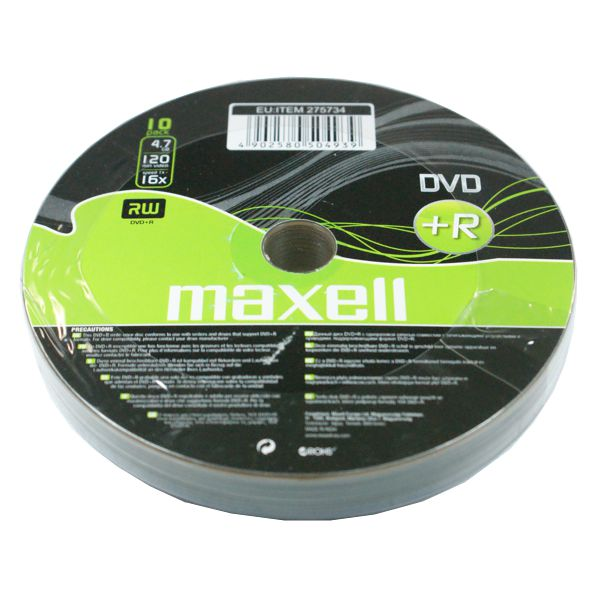 Maxell DVD+R 4,7Gb 10 Cake box 16x - MAXELL 1205