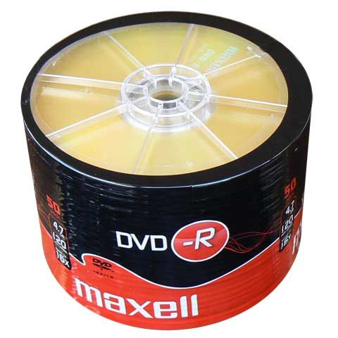 MAXELL DVD-R 16x 120min 4,7Gb 50 Spindle - MAXELL 1206