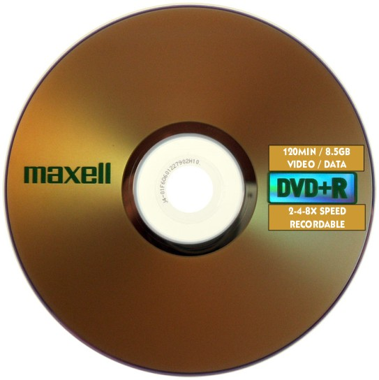 MAXELL dvd+r DL 8x 240min, 25 Spindle - MAXELL 1236