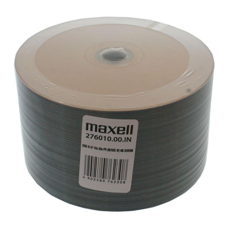 ΜAXELL DVD-R 120min, 4.7GB, 16x, printable, 50τμχ Cake box - MAXELL 1424