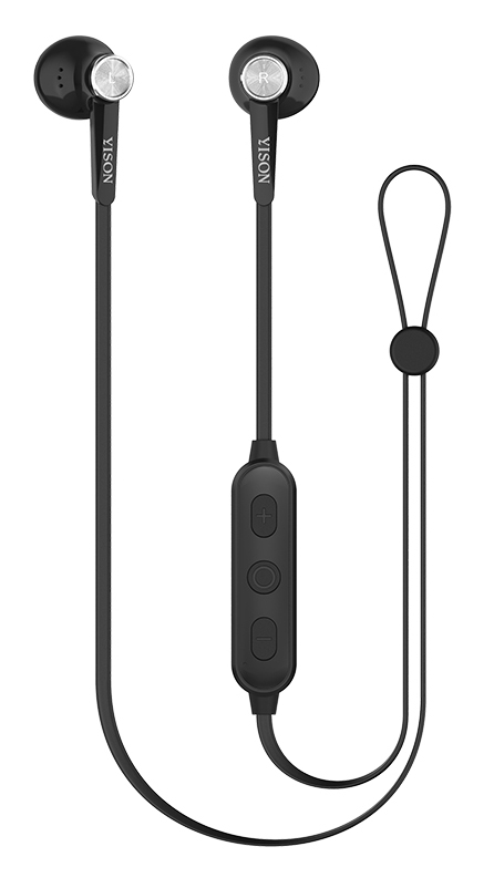 YISON Bluetooth earphones E13-BK με μικρόφωνο HD, Magnetic, 10mm, μαύρα - YISON 27366