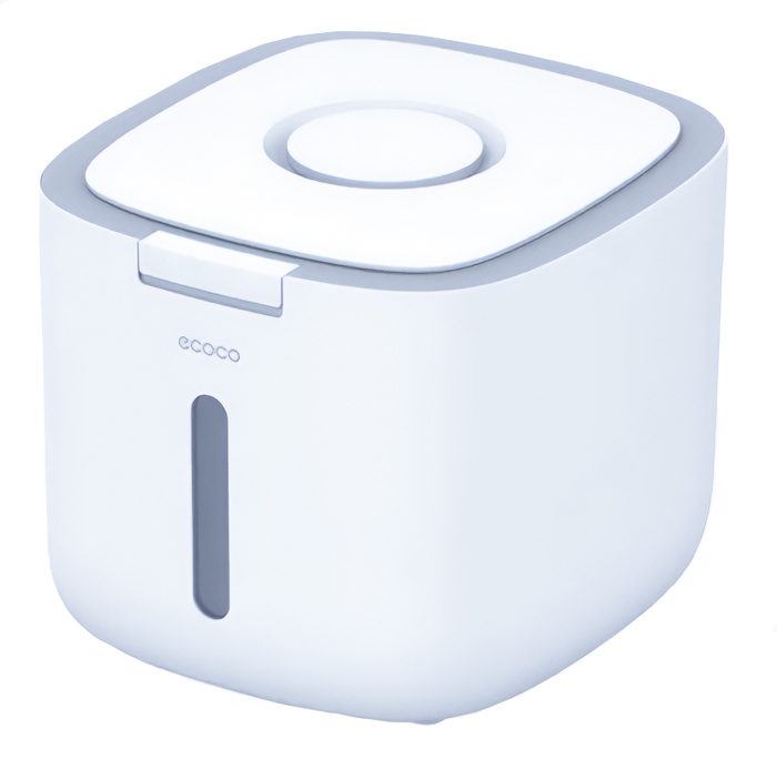 ECOCO δοχείο αποθήκευσης ρυζιού E2005, 10kg, λευκό-γκρι - ECOCO 40128