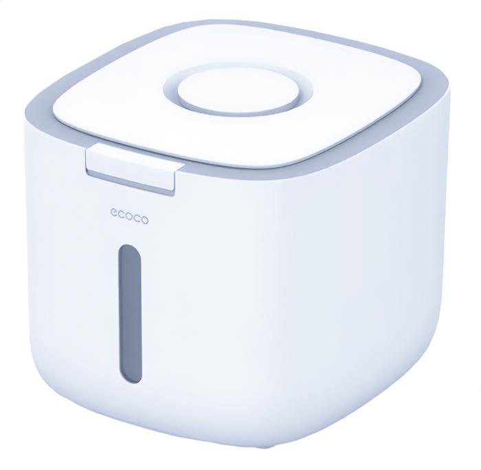 ECOCO δοχείο αποθήκευσης ρυζιού E2029, 5kg, λευκό-γκρι - ECOCO 40129