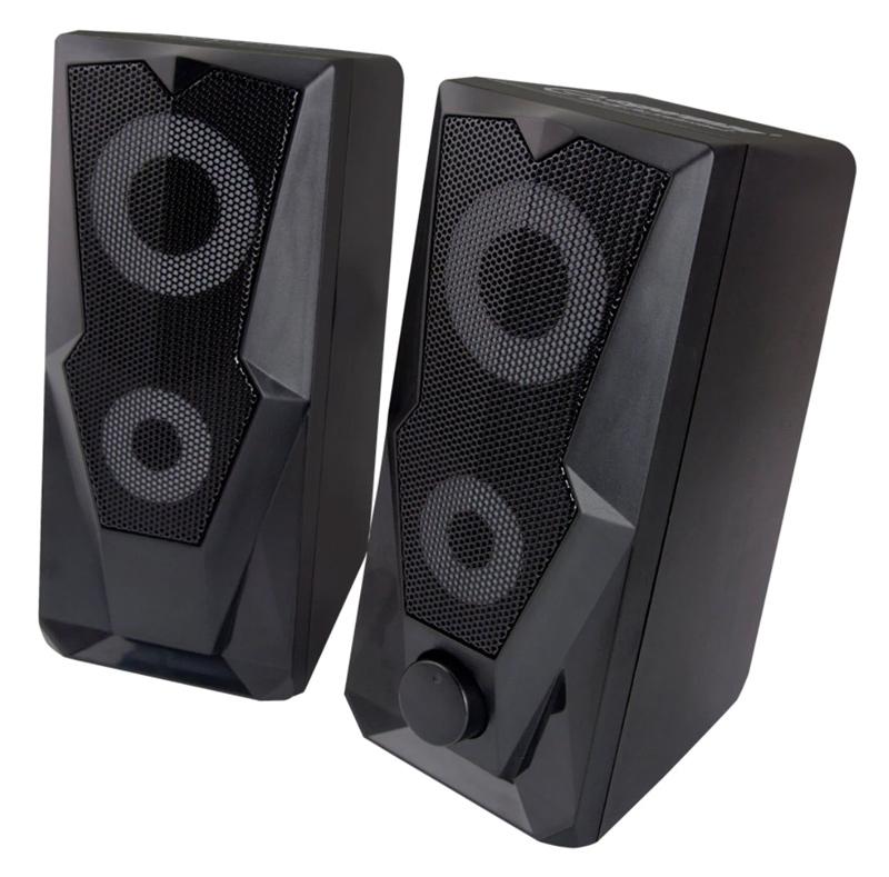 ESPERANZA ηχεία stereo Baila 2.0 EGS103, 2x3W, 3.5mm, μαύρα - ESPERANZA 36248