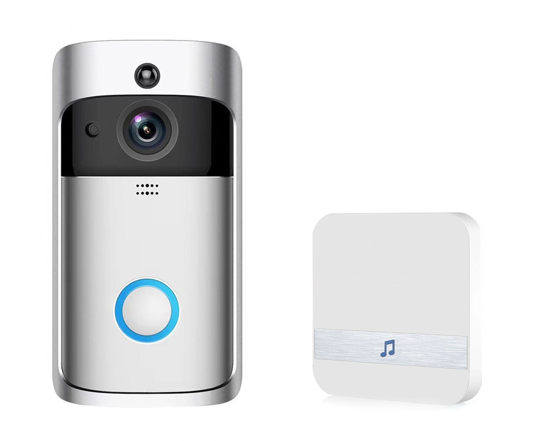 EKEN Δικτυακό κουδούνι πόρτας EKN-V5-SL, WiFi, Full HD Κάμερα, ασημί - EKEN 22344