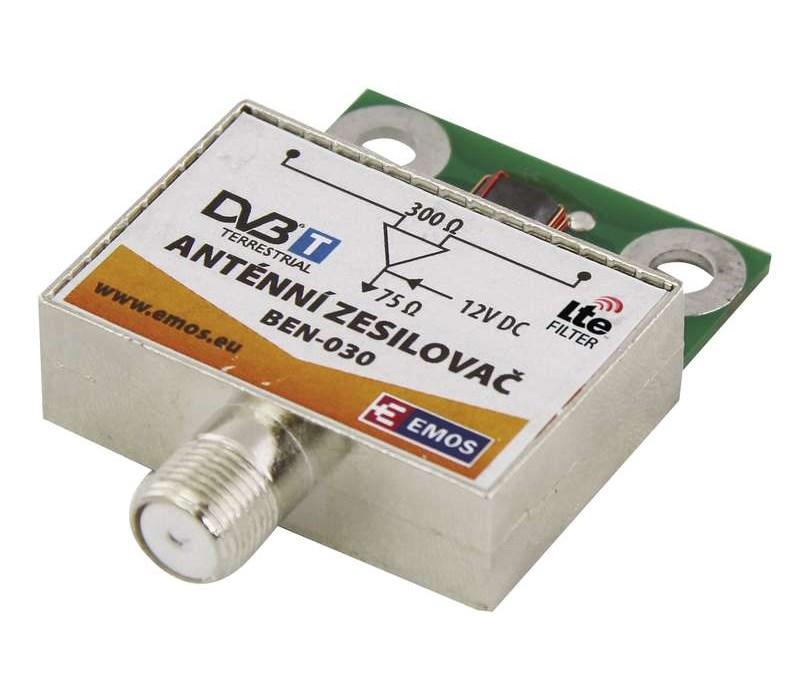 EMOS ενισχυτής εξωτερικής κεραίας BEN-030, 30dB, VHF/UHF - EMOS 21814
