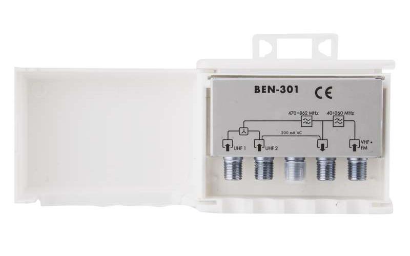 BENSAT μείκτης κεραίας BEN-301, εξωτερικός, DVB-T, FM, VHF, UHF - EMOS 21806