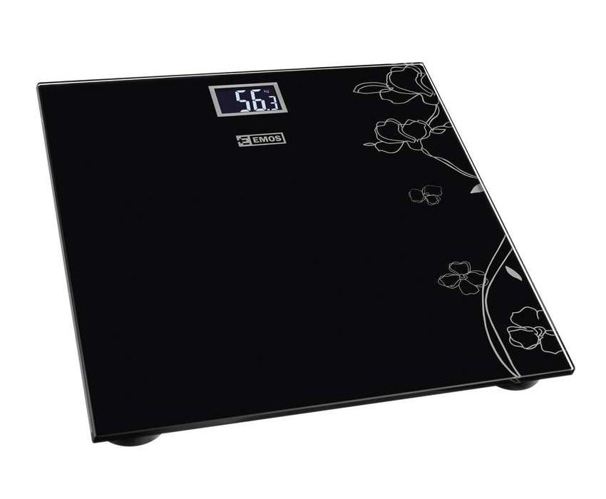 EMOS Ζυγαριά μπάνιου EV106, LCD οθόνη, 180kg max, μαύρη - EMOS 22011