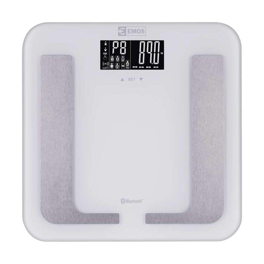 EMOS smart ζυγαριά μπάνιου EV107, με μετρήσεις λίπους, μάζας, bluetooth - EMOS 22010