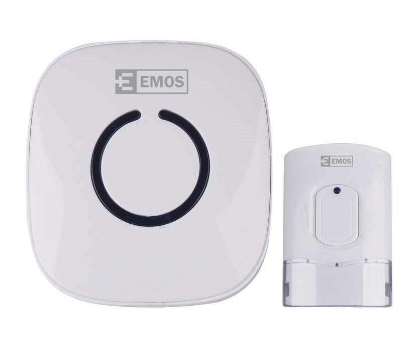 EMOS Ασύρματο κουδούνι εξώπορτας P5718W, 52 ήχοι, 120μ εμβέλεια, 230V - EMOS 22013