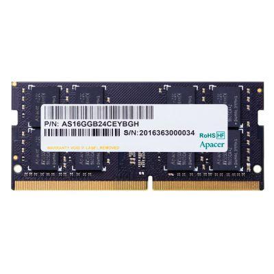 APACER Μνήμη DDR4 SODimm ES.04G2T.LFH, 4GB, 2400MHz, PC4-19200, CL17 - APACER 23700