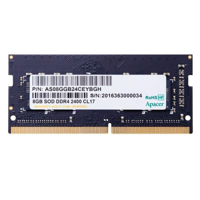 APACER Μνήμη DDR4 SODimm ES.08G2T.GFH, 8GB, 2400MHz, PC4-19200, CL17 - APACER 23701