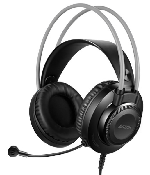 A4TECH Headset FH200U, USB, 50mm ακουστικά, DSP stereo, μαύρα - A4TECH 35763