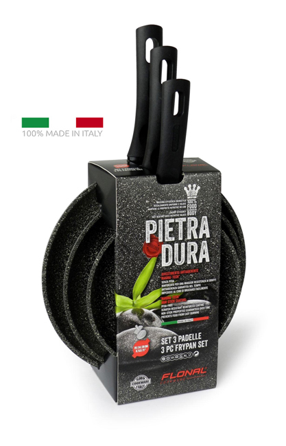 FLONAL SET Τηγάνια αντικολλητικά Pietra Dura 3 τεμαχίων 20/24/28cm - FLONAL 22053