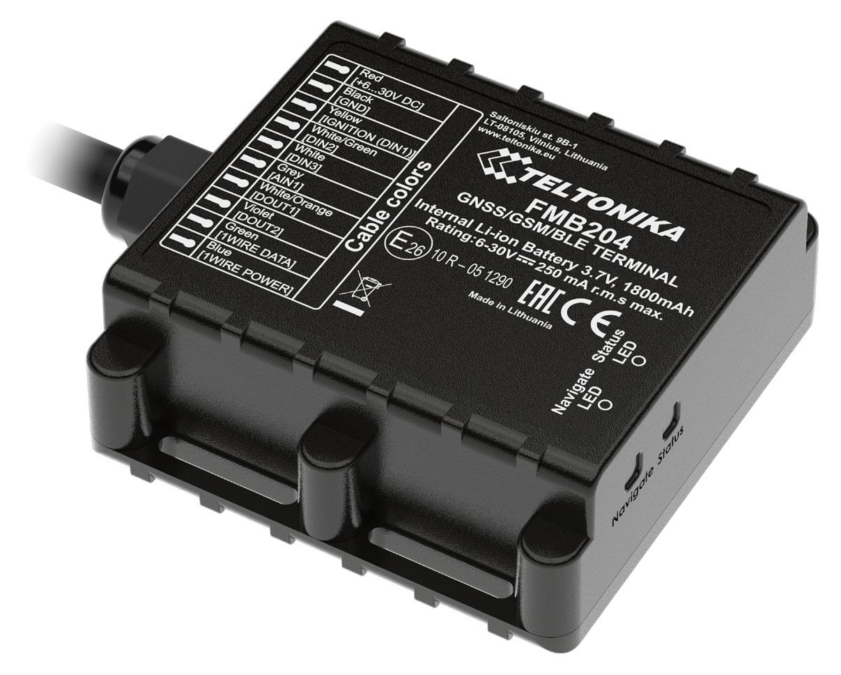 TELTONIKA GPS Tracker αυτοκινήτου FMB204, GSM/GPRS/GNSS, Bluetooth, IP67 - TELTONIKA 34640