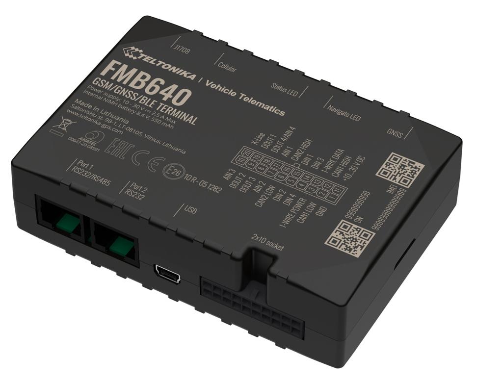 TELTONIKA GPS Tracker αυτοκινήτου FMB640, GSM/GPRS/GNSS, BT, Dual SIM - TELTONIKA 34641