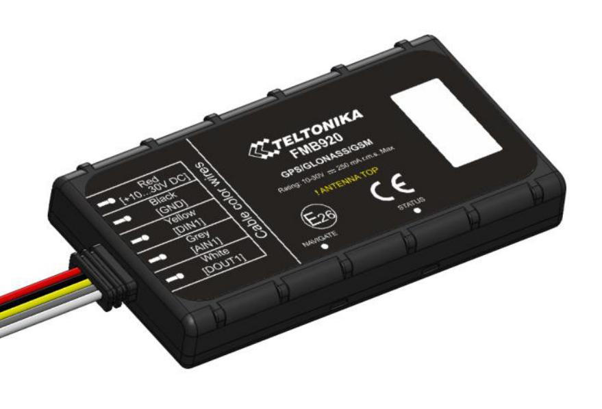 TELTONIKA GPS Tracker οχημάτων FMB920 με Bluetooth, GSM/GPRS/GNSS - TELTONIKA 26904